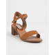 STEVE MADDEN April Cognac Womens Heeled Sandals