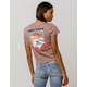 VOLCOM Ridin The Roses Womens Tee
