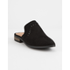 QUPID Perf Black Mule Slides