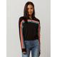 FULL TILT Rainbow Stripe Half Zip Womens Sweatshirt