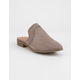 QUPID Perforated Taupe Womens Mules