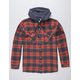 IMPERIAL MOTION Greenwhich Mens Hooded Flannel Shirt