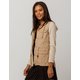 SKY AND SPARROW French Terry Sleeve Khaki Womens Anorak Jacket