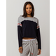 TOMMY HILFIGER Color Block Navy Womens Crop Sweatshirt