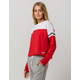TOMMY HILFIGER Color Block Red Womens Crop Sweatshirt