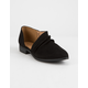 QUPID Ruched Point Womens Flats