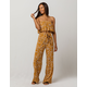 CHANCE Floral Flounce Womens Tube Top And Pants Set