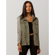 SKY AND SPARROW French Terry Sleeve Olive Womens Anorak Jacket
