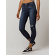IVY & MAIN High Waisted Exposed Zipper Womens Ripped Skinny Jeans