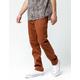 VOLCOM Frickin Drifter Slim Brown Mens Chino Pants