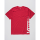 VANS Distorted Red Mens T-Shirt