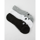 CONVERSE 3 Pack Solid Womens No Show Socks