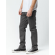 VOLCOM Frickin Drifter Slim Dark Gray Mens Chino Pants