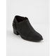 QUPID Perforated Low Black Womens Booties