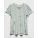 WHITE FAWN Cross Front Tie Dye Sage Girls Tee