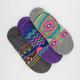 FULL TILT 3 Pack Ethnic Print Womens No Show Socks