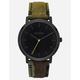 NIXON Porter Leather Black & Camo Watch