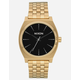 NIXON Simplify Time Teller Gold & Black Watch