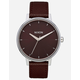 NIXON Kensington Leather Port Watch