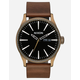 NIXON Raising The Bar Sentry Leather Black & Brown Watch