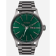 NIXON Doing More Sentry SS All Gunmetal & Green Sunray Watch