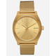 NIXON Time Teller Milanese Gold Watch