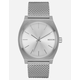 NIXON Time Teller Milanese All Silver Watch