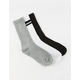FULL TILT 3 Pack Varsity Womens Crew Socks