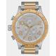 NIXON 51-30 Chrono Silver & Gold Watch