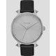 NIXON Kensington Leather Silver & Artifact Watch