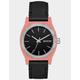NIXON Medium Time Teller Leather Peach & Black Watch