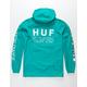 HUF Regional Tour Tropical Green Mens Anorak Jacket