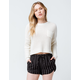 OTHERS FOLLOW Patch Pocket Womens Crop Sweater