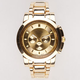 All Gold Metal Watch