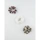 FULL TILT 3 Pack Stripe & Solid Ribbed Scrunchies