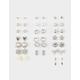 FULL TILT 20 Pairs Flower & Star Silver Earrings