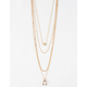 FULL TILT Chain & Heart Layered Necklace