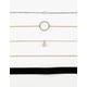 FULL TILT 3 Pack Velvet & Chain Choker Necklaces