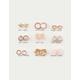 FULL TILT 9 Pairs Heart, Flower & Star Stud Earrings