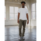 RSQ London Skinny Heather Olive Mens Chino Pants