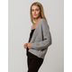 SKY AND SPARROW Open Heather Gray Womens Cardigan
