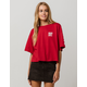 VANS Drop Shoulder Womens Crop Tee