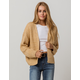 SKY AND SPARROW Open Beige Womens Cardigan