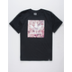 ADIDAS Blackbird Cherry Blossom Black Mens T-Shirt