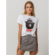 MIGHTY FINE Only You  Smokey Bear White Womens Crop Tee