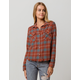 RVCA In A Haze Rust Womens Flannel Shirt