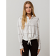 ROXY Suburb Vibes Womens Tie Front Top