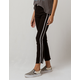 SKY AND SPARROW Side Stripe Crop Womens Flare Jeans