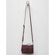 VIOLET RAY Peyton Whipstitch Wine Wallet Crossbody Bag