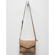 VIOLET RAY Leanna Whipstitch Taupe Crossbody Bag
